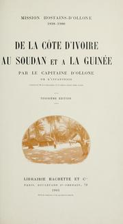 Cover of: Mission Hostains-d'Ollone, 1898-1900 by Ollone, Henri Marie Gustave vicomte d'