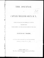 Cover of: The journal of Captain William Owen, R.N., during his residence on Campobello in 1770-1771 |