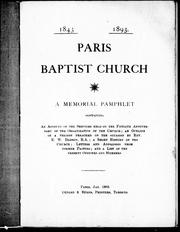 Cover of: Paris Baptist Church |