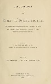 Discussions by Robert Lewis Dabney