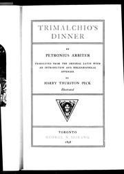 Cover of: Trimalchio's dinner