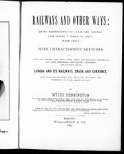 Cover of: Railways and other ways |