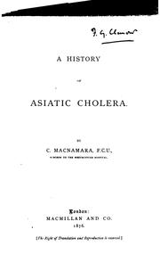 Cover of: A history of Asiatic cholera