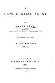 Cover of: A confidential agent