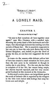 Cover of: A Lonely Maid by Margaret Wolfe Hamilton Hungerford