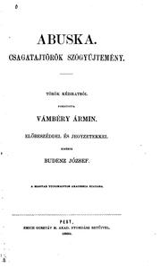 Cover of: Abuska: Csagatajtörök szógyüjtemény