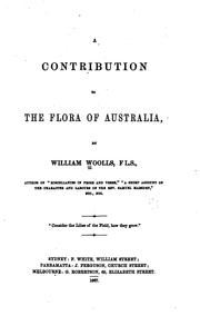 Cover of: A contribution to the flora of Australia