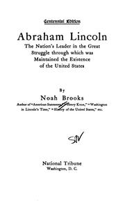 Cover of: Abraham Lincoln: The Nation