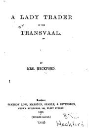 Cover of: A Lady Trader in the Transvaal