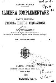 Cover of: Algebra complementare