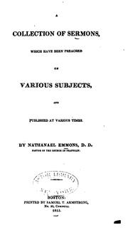 Cover of: A Collection of Sermons, which Have Been Preached on Various Subjects, and Published at Various ..