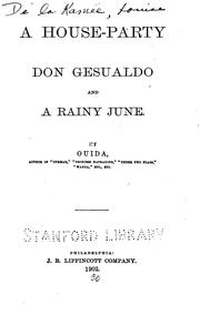 Cover of: A House Party: Don Gesualdo and A Rainy June