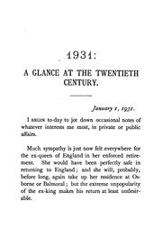 Cover of: 1931: A Glance at the Twentieth Century