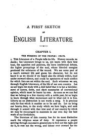 Cover of: A first sketch of English literature
