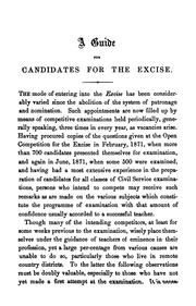 Cover of: A guide for candidates for the excise | Robert Johnston