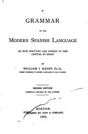 Cover of: A grammar of the modern Spanish language