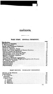 Cover of: A Compendium of Chemistry: Including General, Inorganic, and Organic Chemistry | Carl Arnold