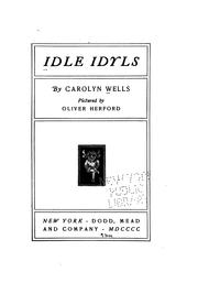 Cover of: Idle idyls