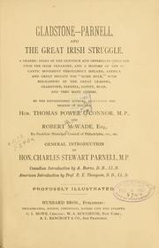 Cover of: Gladstone-Parnell, and the great Irish struggle. | Thomas Power O