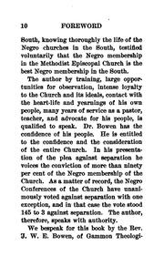 Cover of: An Appeal for Negro Bishops, But No Separation