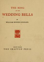 Cover of: song of the wedding bells | William Bonnie Ockhame