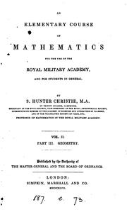 Cover of: An elementary course of mathematics