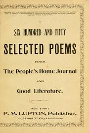 Cover of: Six hundred and fifty selected poems from the People