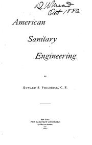 Cover of: American Sanitary Engineering | Edward Southwick Philbrick