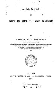 Cover of: A manual of diet in health and disease