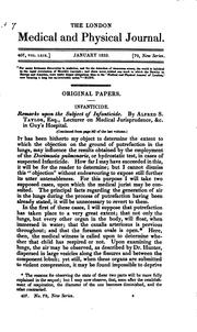 Cover of: An appeal to the medical profession, on the utility of the improved patent syringe, with ... | John Read