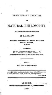 Cover of: An Elementary Treatise on Natural Philosophy