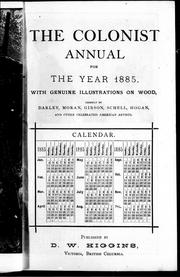 Cover of: The Colonist annual for the year 1885 |