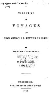 Cover of: A Narrative of Voyages and Commercial Entreprises | Richard Jeffry Cleveland