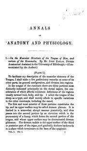Cover of: Annals of Anatomy and Physiology | John Goodsir