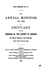 Cover of: The Annual Monitor for ... , Or, Obituary of the Members of the Society of ... by Joseph Joshua Green