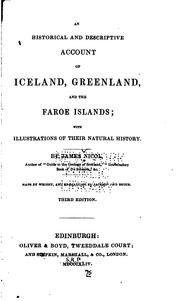 Cover of: An Historical and Descriptive Account of Iceland, Greenland, and the Faroe ..
