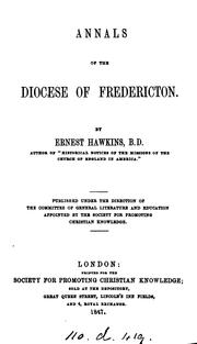 Cover of: Annals of the Diocese of Fredericton