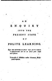 Cover of: An Enquiry Into the Present State of Polite Learning in Europe: By Oliver ... | Oliver Goldsmith