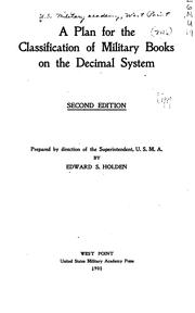 Cover of: A Plan for the Classification of Military Books on the Decimal System