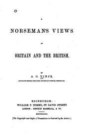 Cover of: A Norseman's Views of Britain and the British