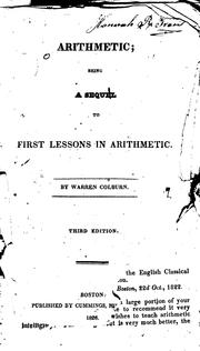 Cover of: Arithmetic: Being a Sequel to First Lessons in Arithmetic