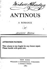 Cover of: Antinous: A Romance of Ancient Rome | Adolf Hausrath