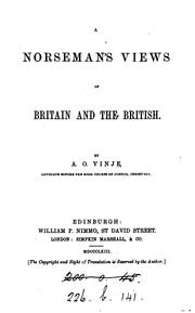 Cover of: A Norseman's views of Britain and the British (letters)