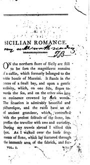 Cover of: A Sicilian romance, by the authoress of The castles of Athlin and Dunbayne