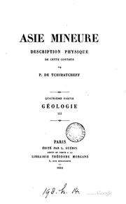 Cover of: Asie mineure. [With] Atlas