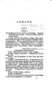 Cover of: Armand; Or, The Peer and the Peasant: A Play in Five Acts