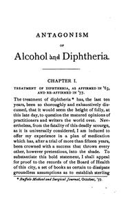 Cover of: Antagonism of alcohol and diphtheria | Edwin Nesbit Chapman