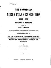 Cover of: The Bathymetrical Features of the North Polar Seas: With a Discussion of the ..