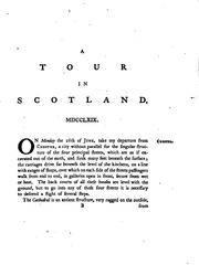 Cover of: A Tour in Scotland and Voyage to the Hebrides