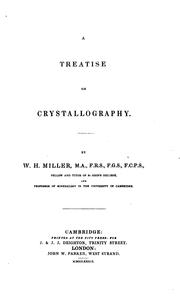 Cover of: A Treatise on Crystallography